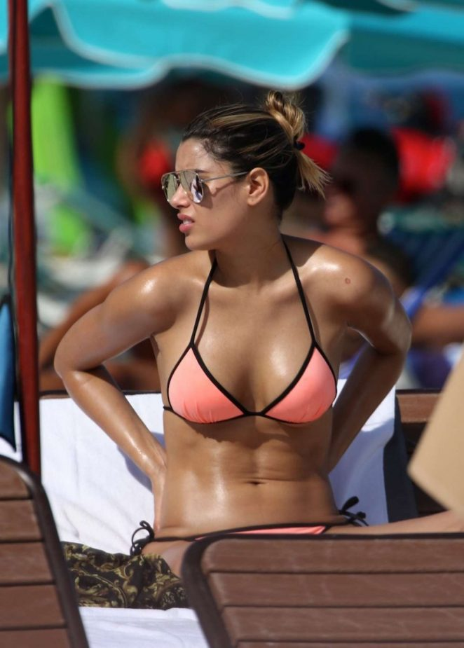 Ariadna Gutierrez in Bikini at a beach in Miami