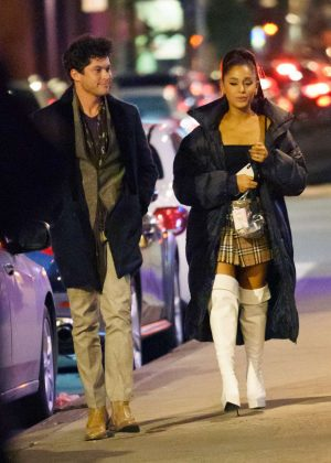 Ariana Grande and boyfriend Graham Phillips at Carbone in NYC