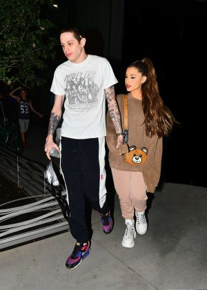 Ariana Grande and Pete Davidson - Night out in New York