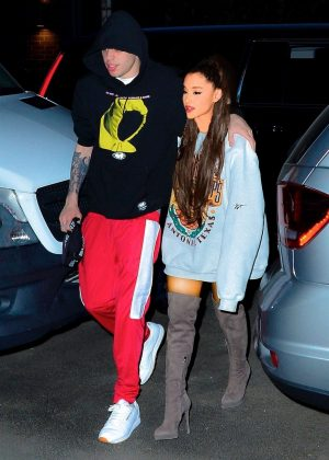Ariana Grande and Pete Davidson - Out for Dinner in New York City