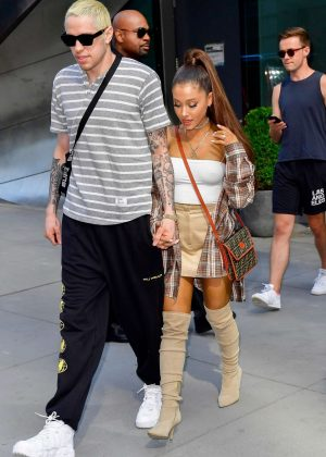 Ariana Grande and Pete Davidson - Shopping at Barney's New York in NYC