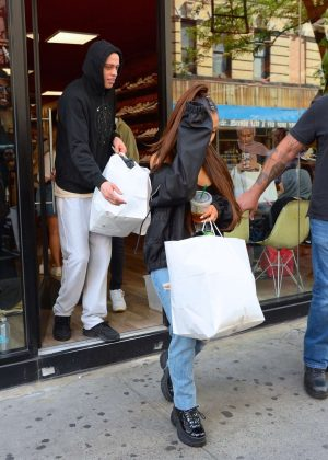 Ariana Grande and Pete Davidson - Shopping in East Village