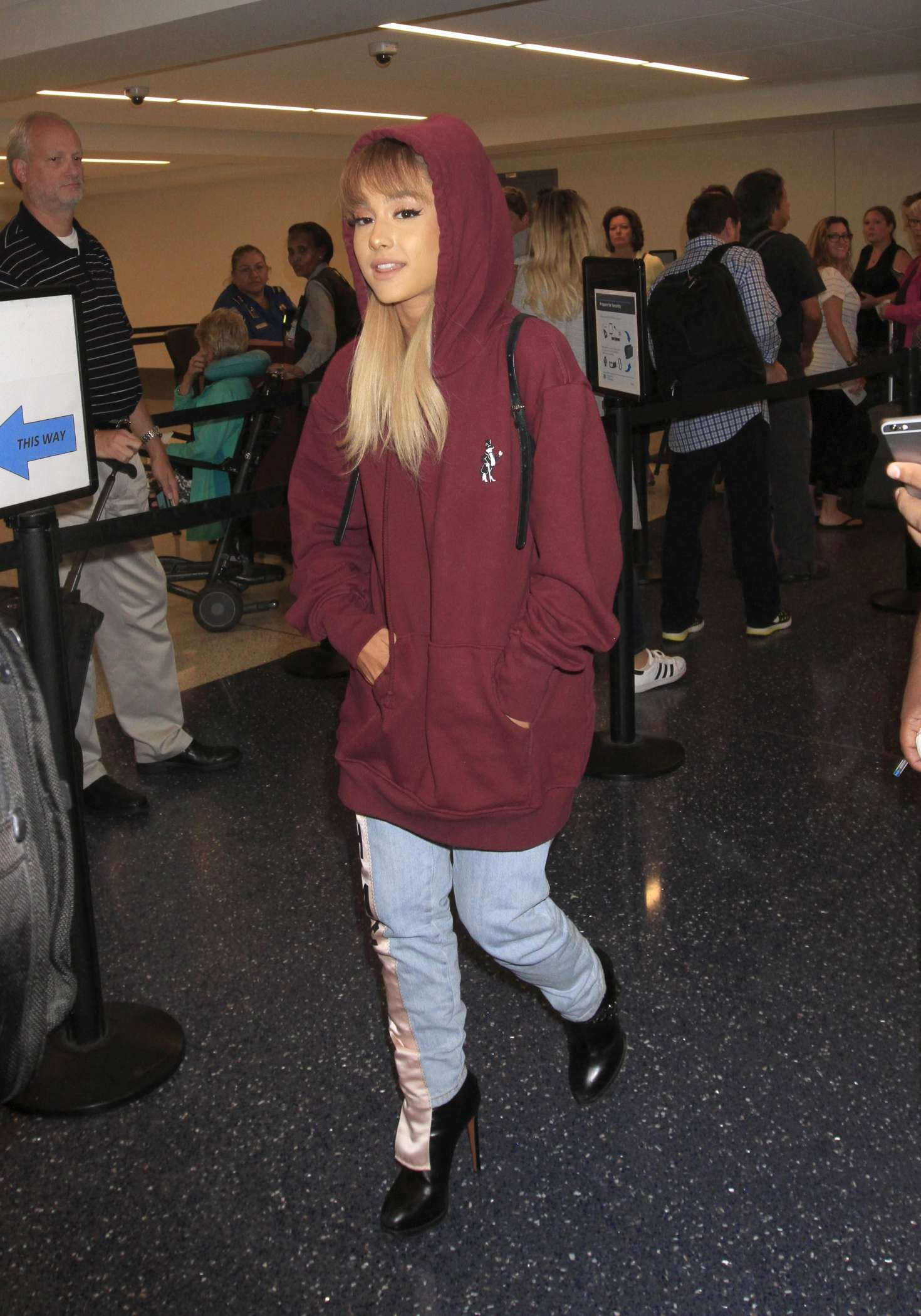 Ariana Grande Arrives at LAX Airport -02 - GotCeleb