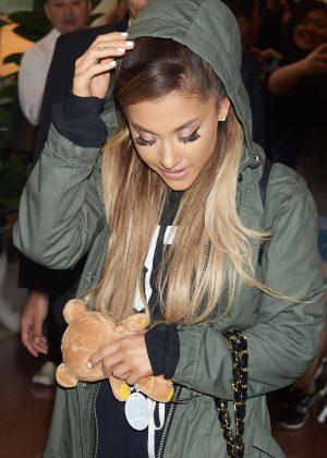 Ariana Grande - Arriving at Haneda Airport in Tokyo
