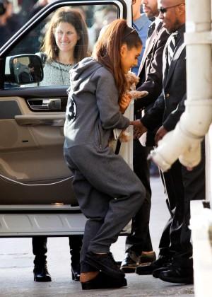 Ariana Grande - Arriving at 'Jimmy Kimmel Live' in LA