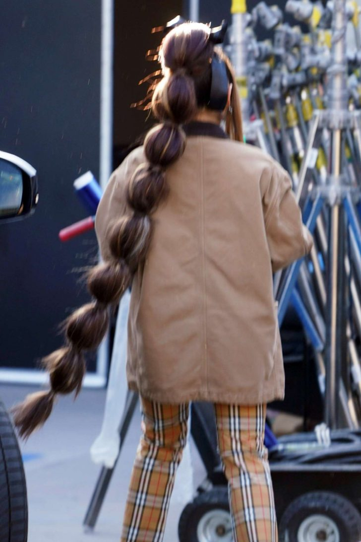 Ariana Grande at a Studio in Calabasas -02