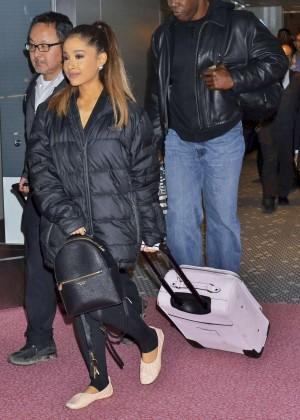 Ariana Grande at Tokyo International Airport