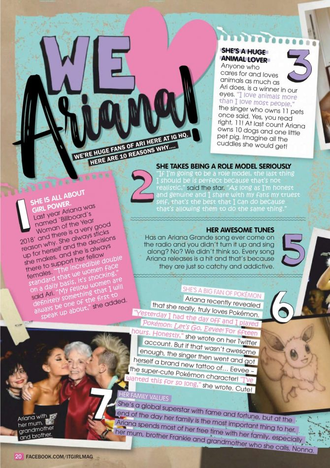 Ariana Grande: It GiRL Magazine 2019 -01