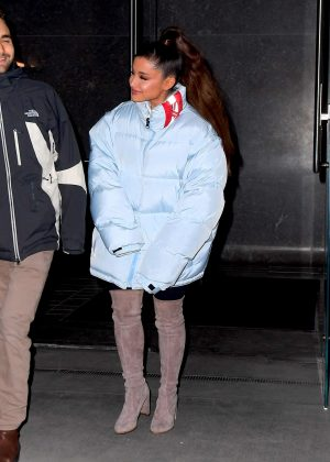 Ariana Grande - Leaving a building in New York