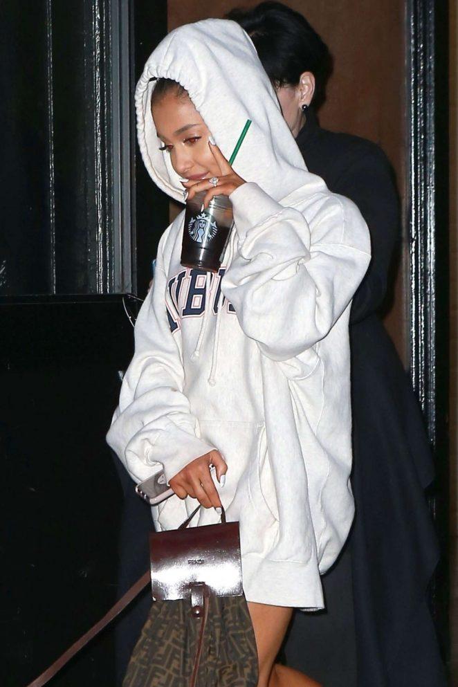 Ariana Grande - Leaving studio in Soho