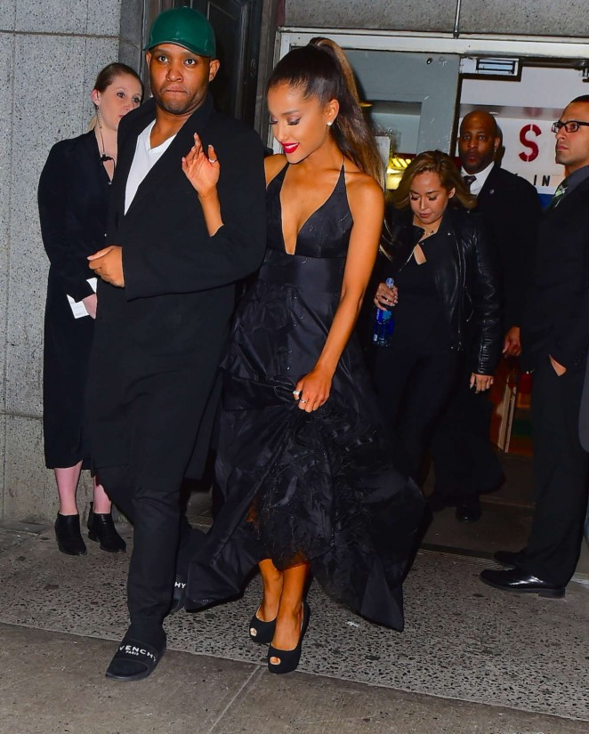 Ariana Grande - Leaving the DKMS Blood Cancer Gala in New York City