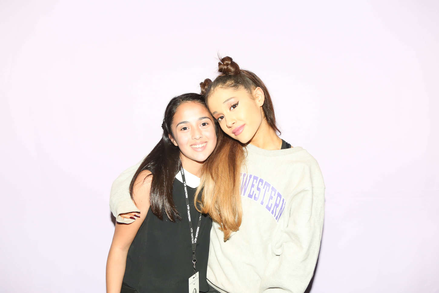 Ariana Grande Meet And Greet Experience Gallery Greetings Card