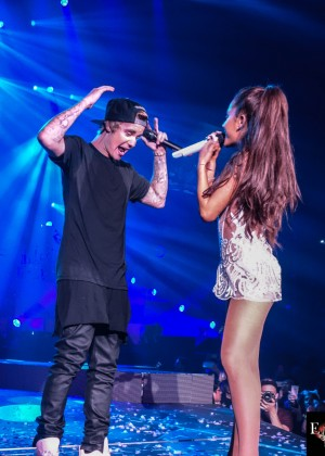 Ariana Grande - Performing with Justin Bieber in Miami