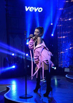 Ariana Grande - Performs at Vevo Presents at The Angel Orensanz Foundation in NY