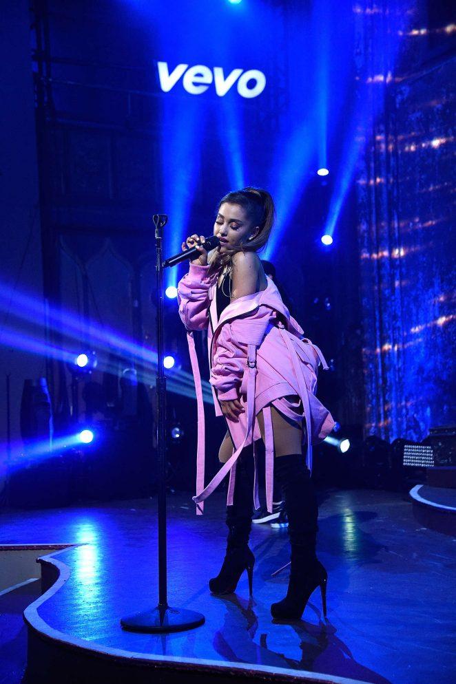 Ariana Grande – Performs at Vevo Presents at The Angel Orensanz Foundation in NY