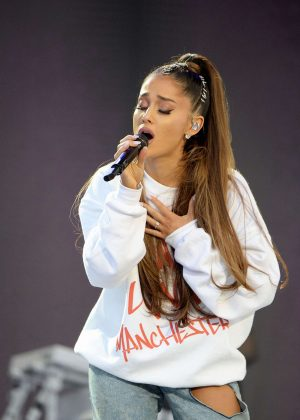 Ariana Grande - Performs on One Love Manchester Benefit Concert in Manchester