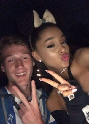 Ariana Grande - Posing with Fans at Disneyland