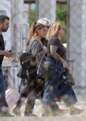 Ariana Grande - Shooting a music video in Greece