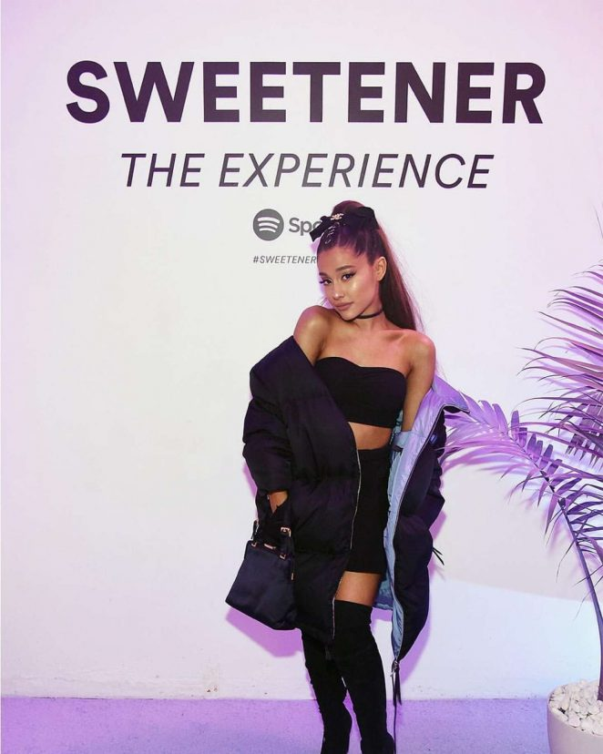 Ariana Grande - Spotify's 'Sweetener The Experience' pop-up! in NYC