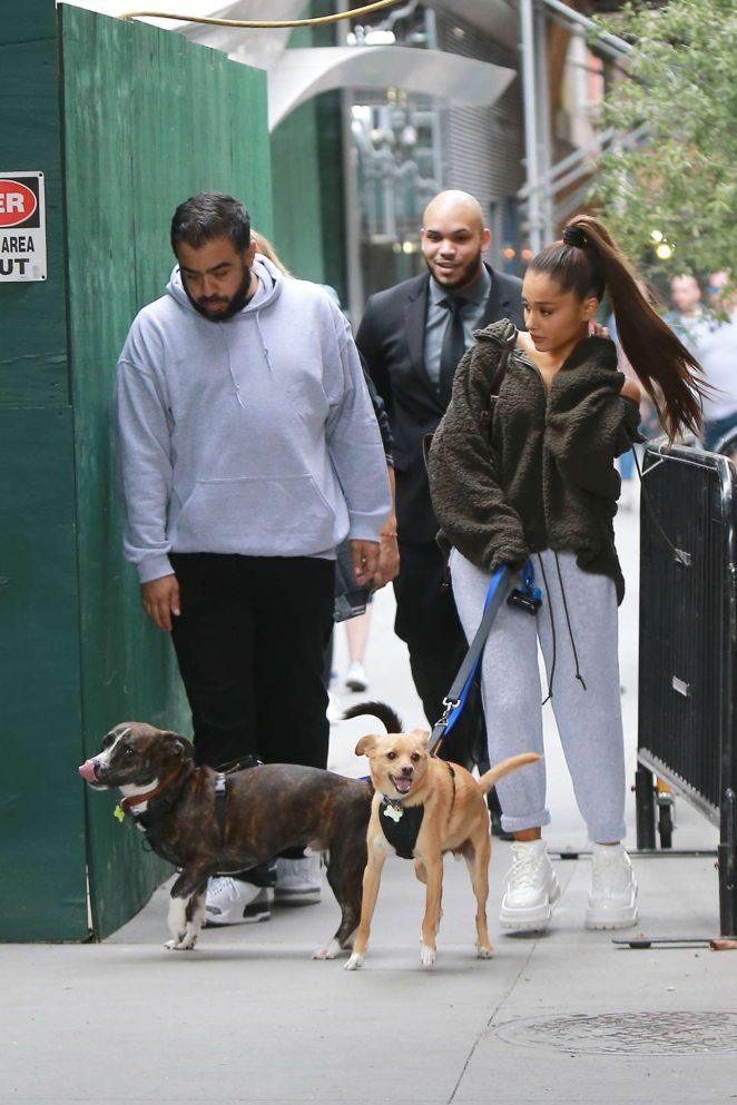 Ariana Grande: Walking her dog in New York -08