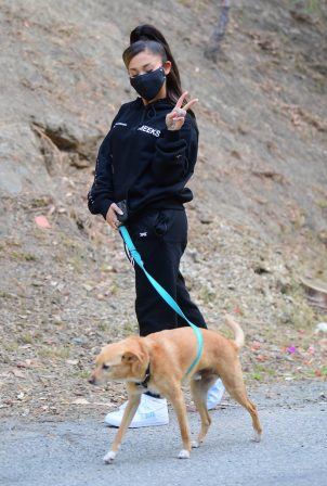 Ariana Grande - Walking Toulouse in Los Angeles