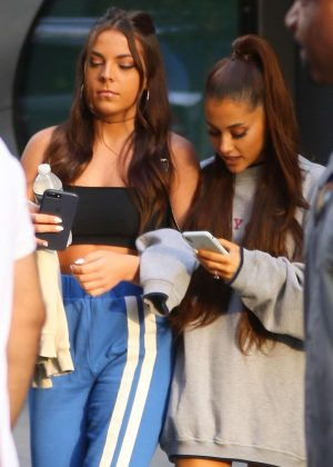 Ariana Grande with a friends out in New York