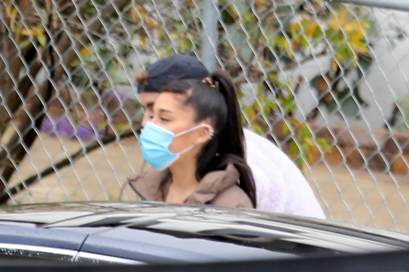 Ariana Grande with Hailey Bieber - Out in Brentwood