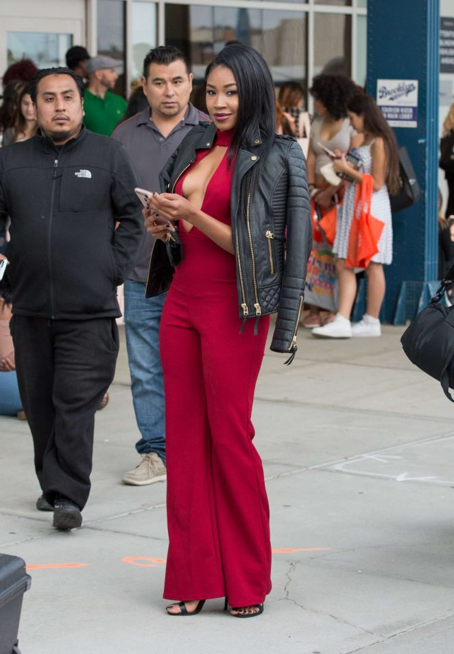 Ariane Andrew in Red out in NYC -06
