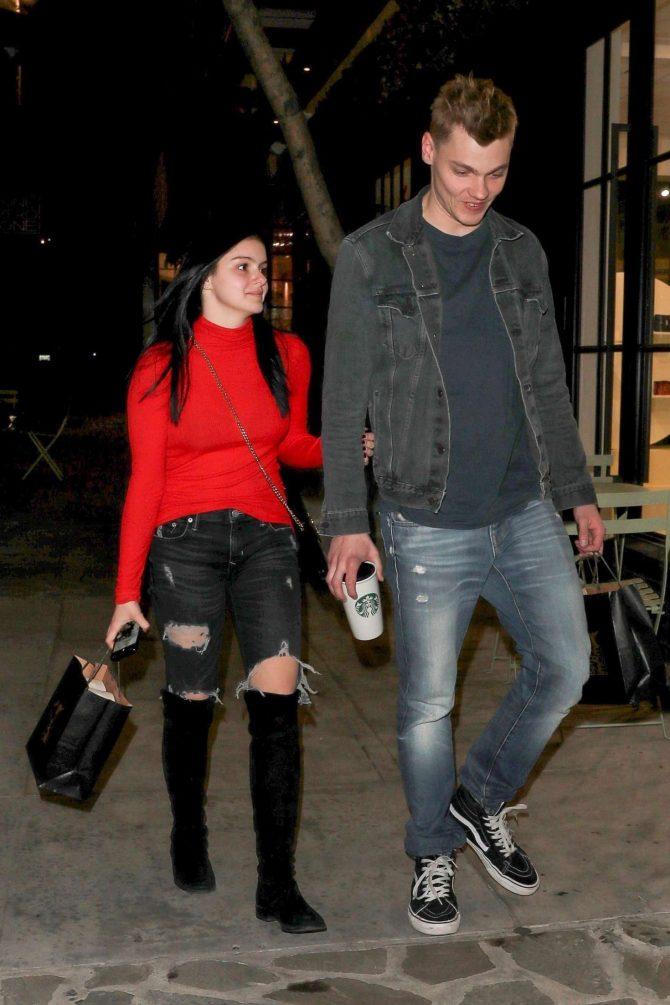 Ariel Winter and boyfriend Levi Meaden - Arrives at salon in LA