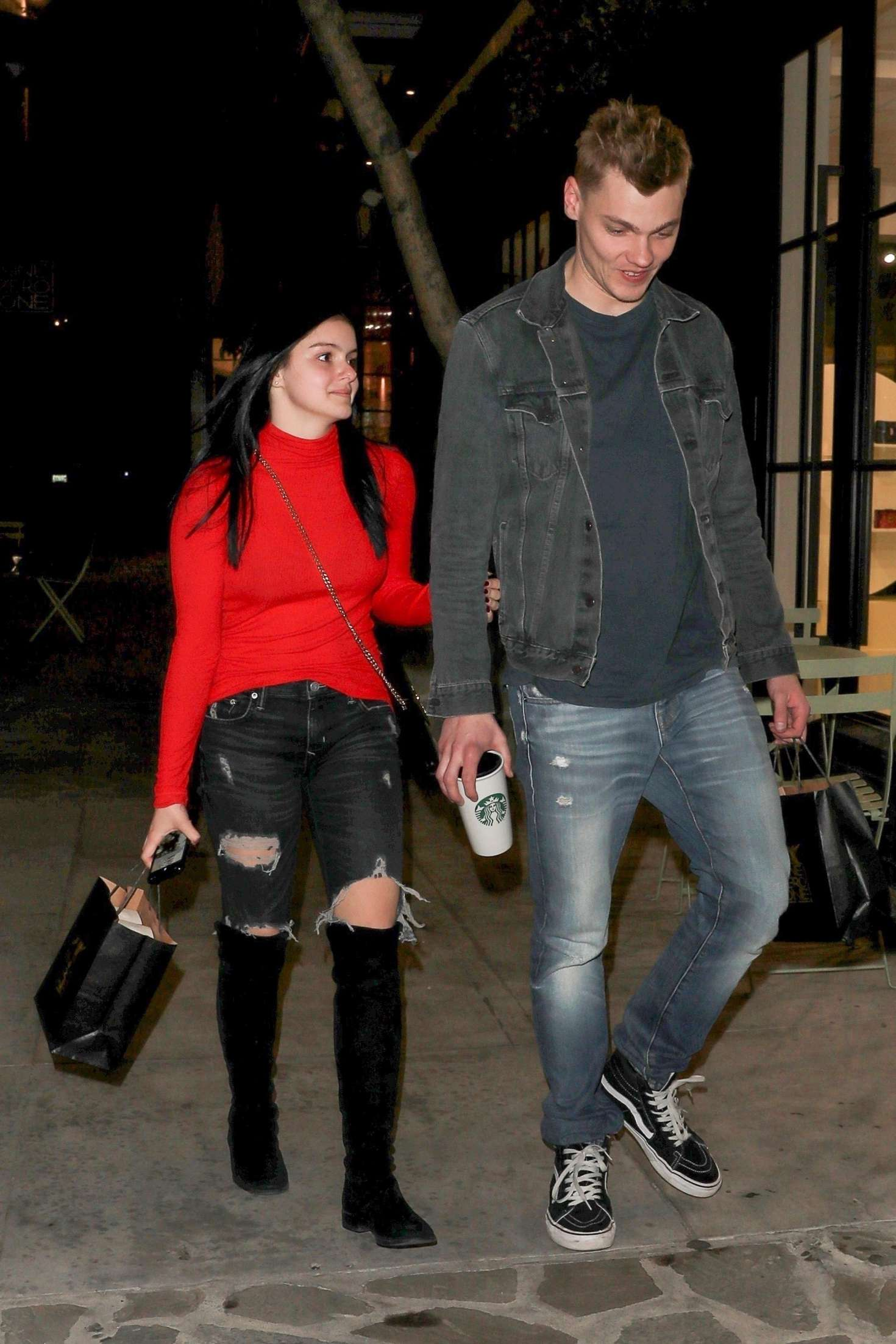 Ariel Winter and boyfriend Levi Meaden – Arrives at salon in LA