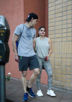 Ariel Winter and boyfriend Levi Meaden - Leaving the gym in LA