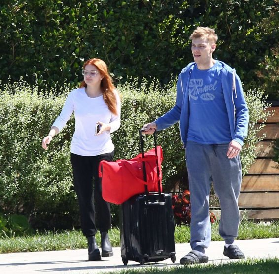 Ariel Winter and Levi Meaden - Arrives at LAX International Airport in LA