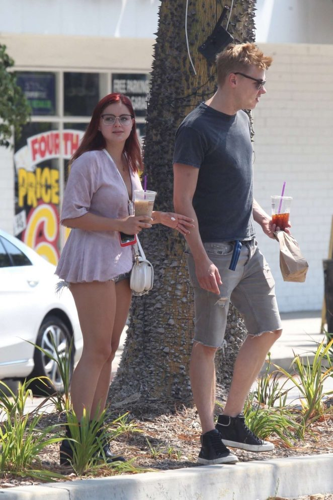 Ariel Winter and Levi Meaden out in Studio City -07