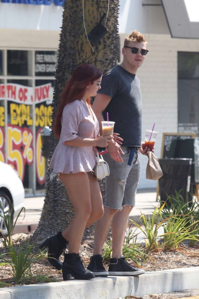 Ariel Winter and Levi Meaden out in Studio City -25