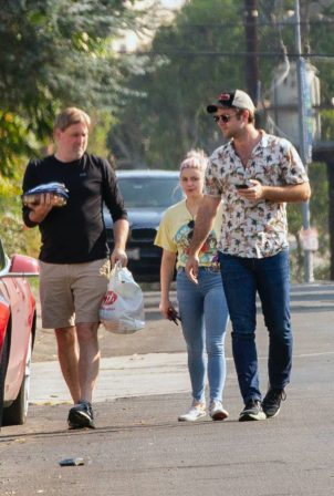 Ariel Winter and Luke Benward - Seen outside their home in Studio City