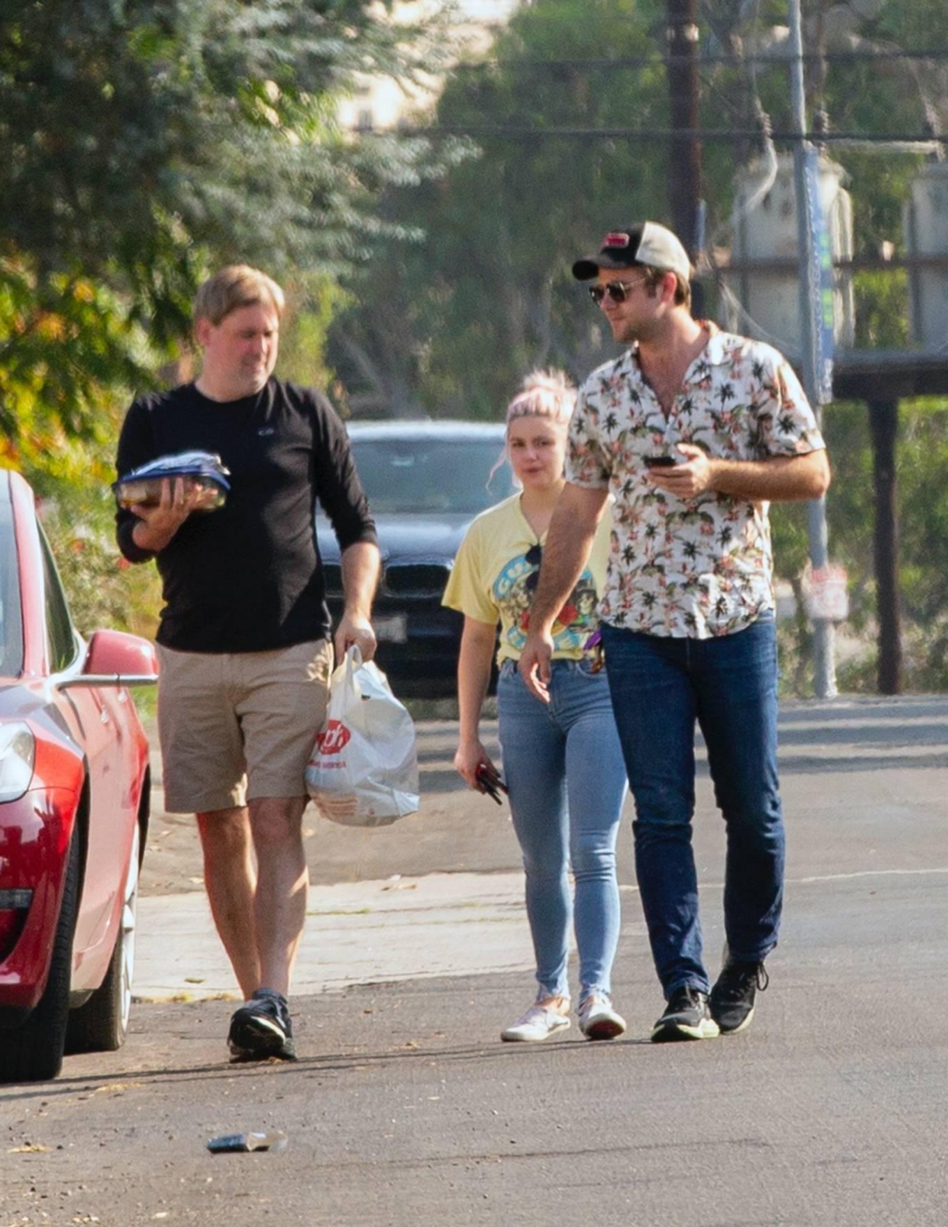 Ariel Winter and Luke Benward - Seen outside their home in Studio City