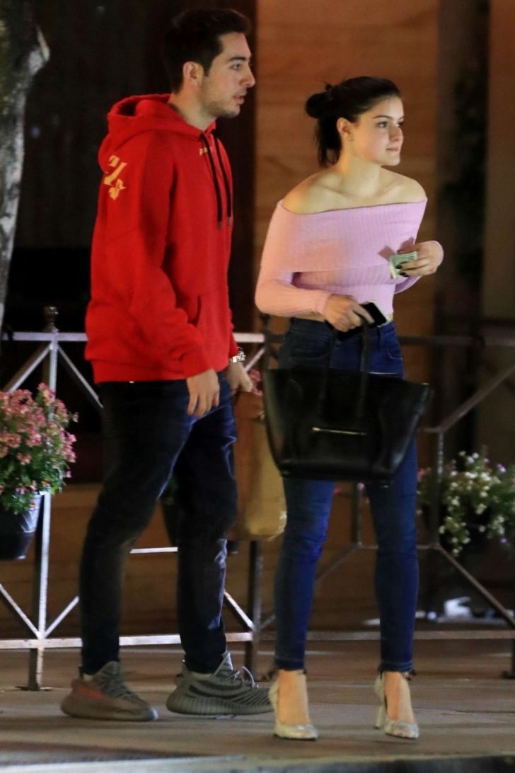 Ariel Winter at Il Pastaio restaurant with her friend in Beverly Hills