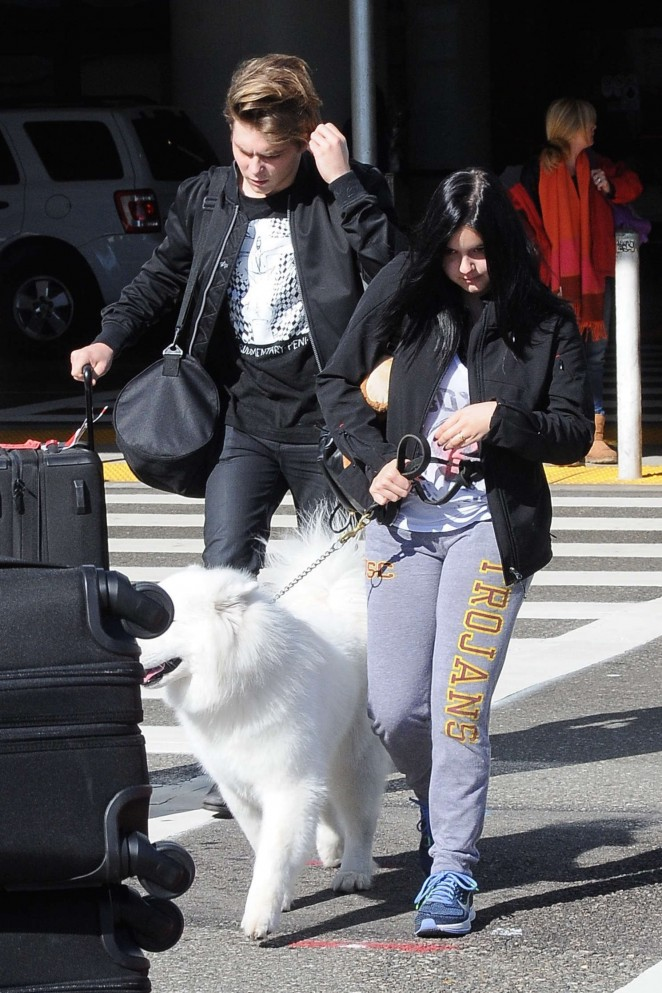 Ariel Winter at LAX Airport in Los Angeles