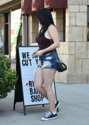 Ariel Winter in Jeans Shorts -09