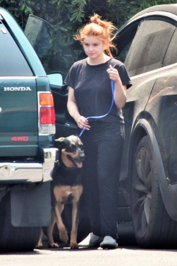 Ariel Winter - Dropping off her dogs at the vet in Los Angeles