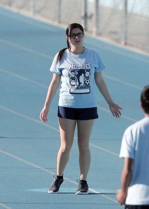 Ariel Winter in Shorts Filming 'Modern Family' in LA