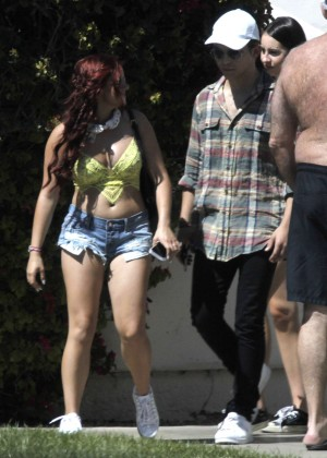 Ariel Winter in Bikini Top and Shorts -02