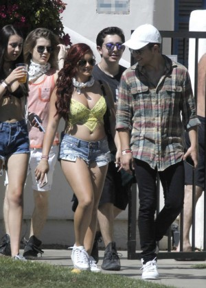 Ariel Winter in Bikini Top and Shorts -04