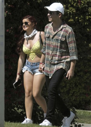 Ariel Winter in Bikini Top and Shorts -07