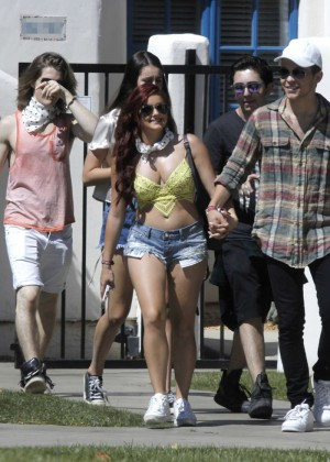 Ariel Winter in Bikini Top and Shorts -18
