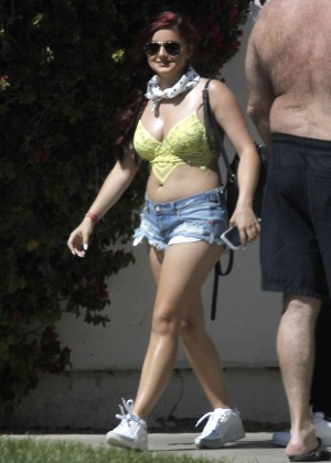 Ariel Winter in Bikini Top and Shorts -19