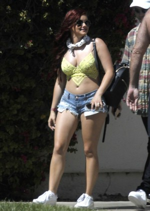 Ariel Winter in Bikini Top and Shorts -28