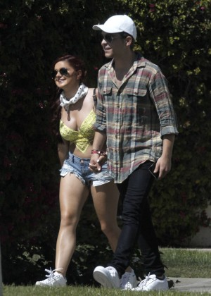 Ariel Winter in Bikini Top and Shorts -29