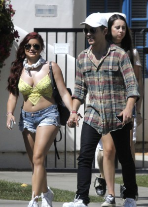 Ariel Winter in Bikini Top and Shorts -32