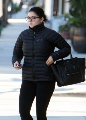 Ariel Winter in Black outfit out in Studio City